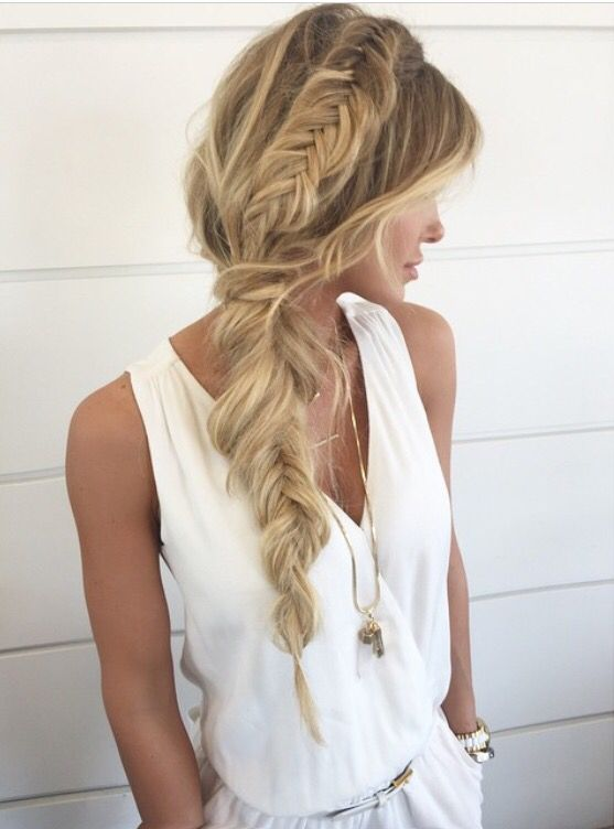 Messy Fishtail Braid Hairstyle