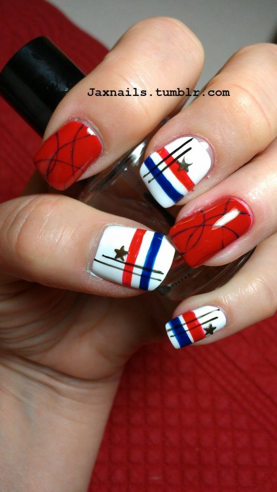 14 Amazing American Flag Inspired Nails Pretty Designs
