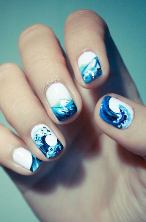 Ocean Inspired Summer Nail Design