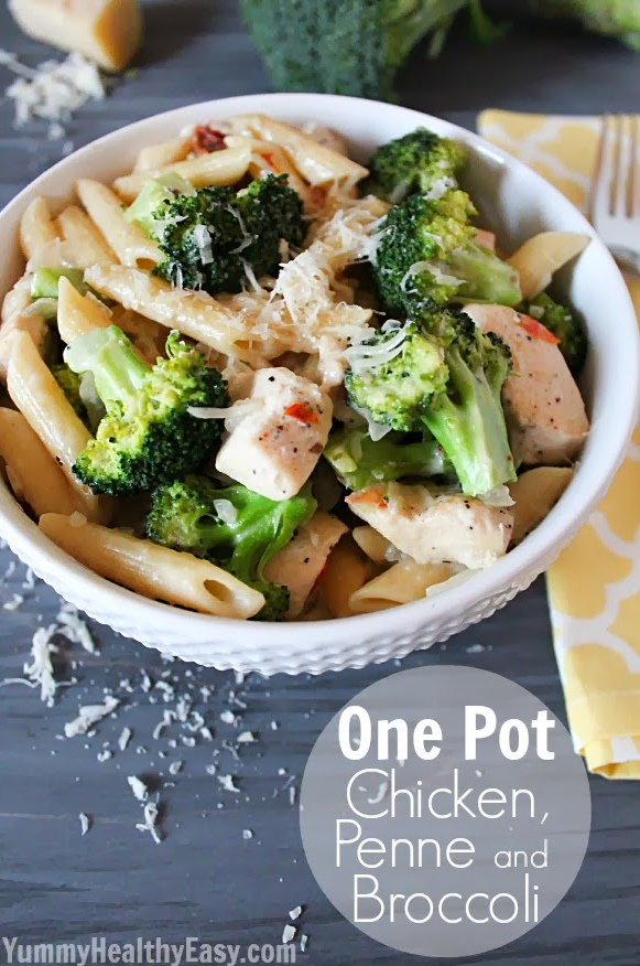 One-Pot Chicken, Penne, and Broccoli