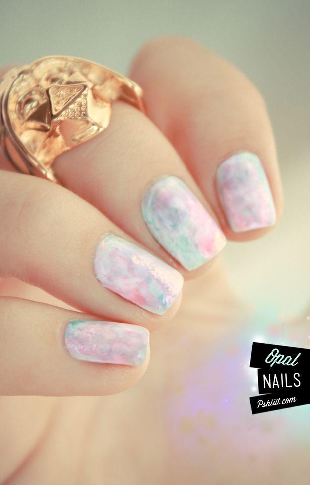 Opal Nail Art Design