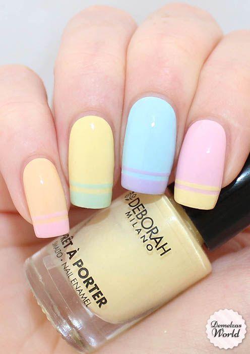Pastel Nail Art Design