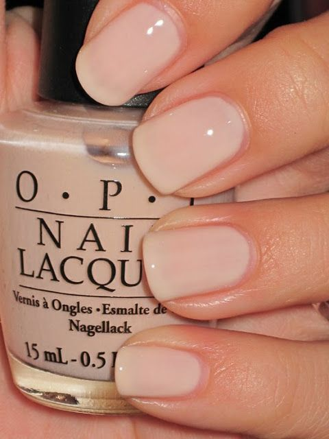 Pastel Nude Wedding Nail Idea