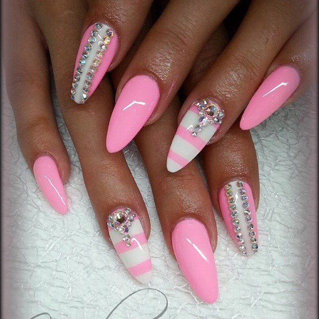 24 brave Nail Art Pink And White – ledufa.com