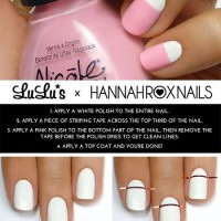 Pink and White Nail Design Tutorial