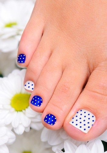 20 Adorable Easy Toe Nail Designs 2019 - Simple Teenail Art Designs