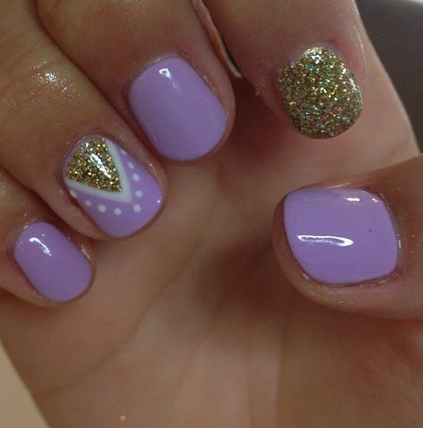Purple Nail Design Idea for 2017