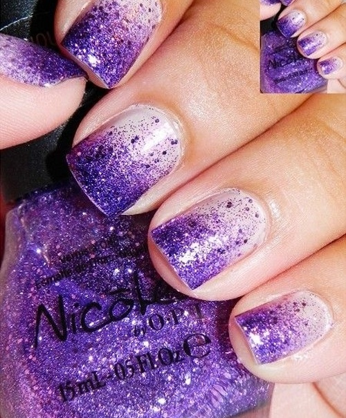 Purple Wedding Nail Idea