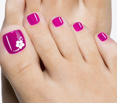 Purple Toe Nail Design
