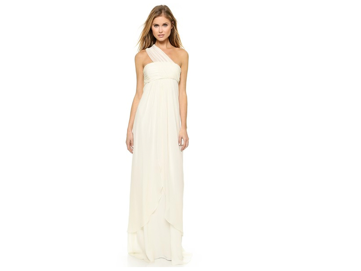 Rachel Zoe Elle Empire One Shoulder Gown, $695