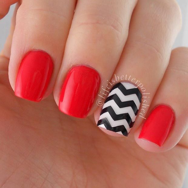 Ideas For Short Nails Easy Nail Art: 18 Great Nail Designs For Short Nails