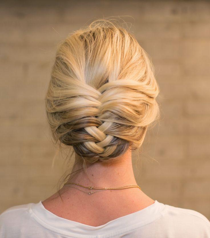 fishtail hairstyle : Retro Fishtail Braid Updo Hairstyle/Pinterest