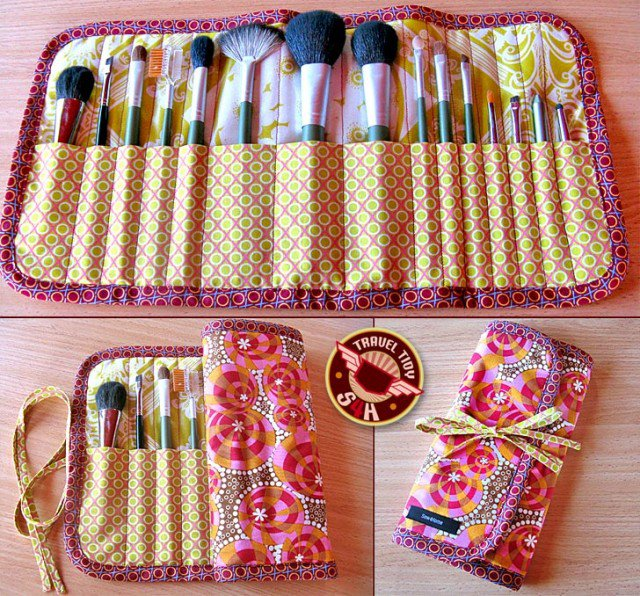 Roll-Up Makeup Brush Case