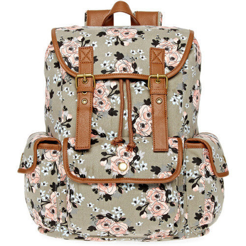 SM New York Floral Cargo backpack, $25