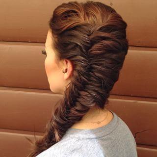Sideswept Fishtail Braid Hairstyle