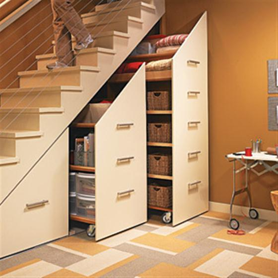 Space Saving Cabinet Under The Stairs