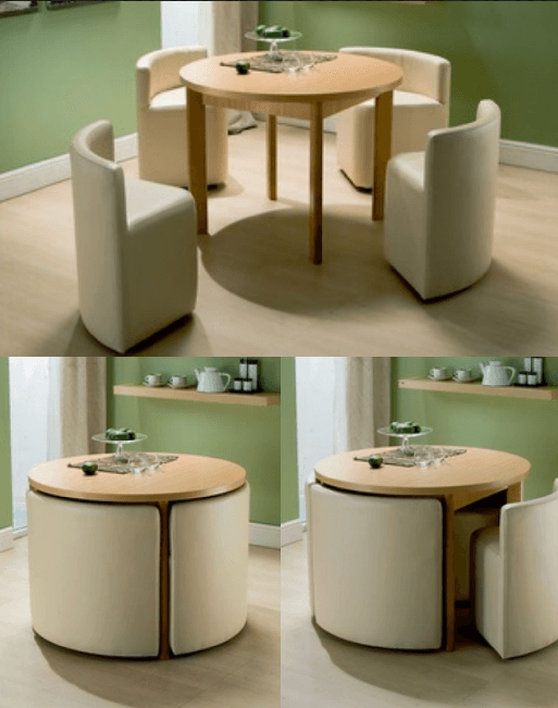 Space-Saving Dinning Table for 4 People