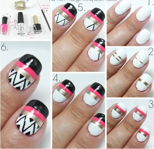 Source - 25 Easy Nail Art Designs (Tutorials) For Beginners - 2019 Update