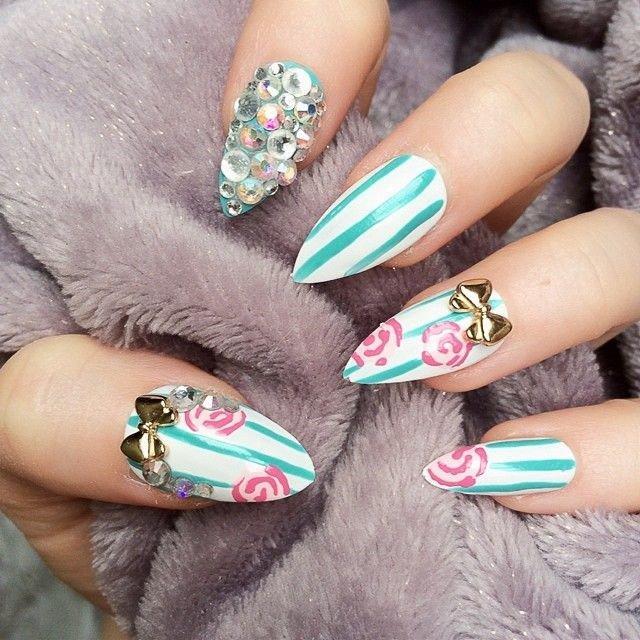 Striped Nail Art Design