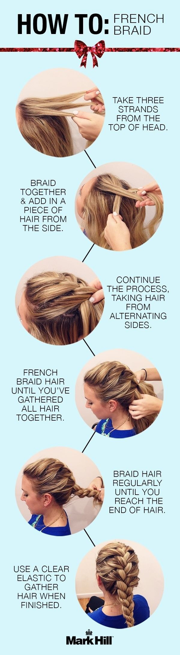 Stunning French Braid Hairstyle Tutorial