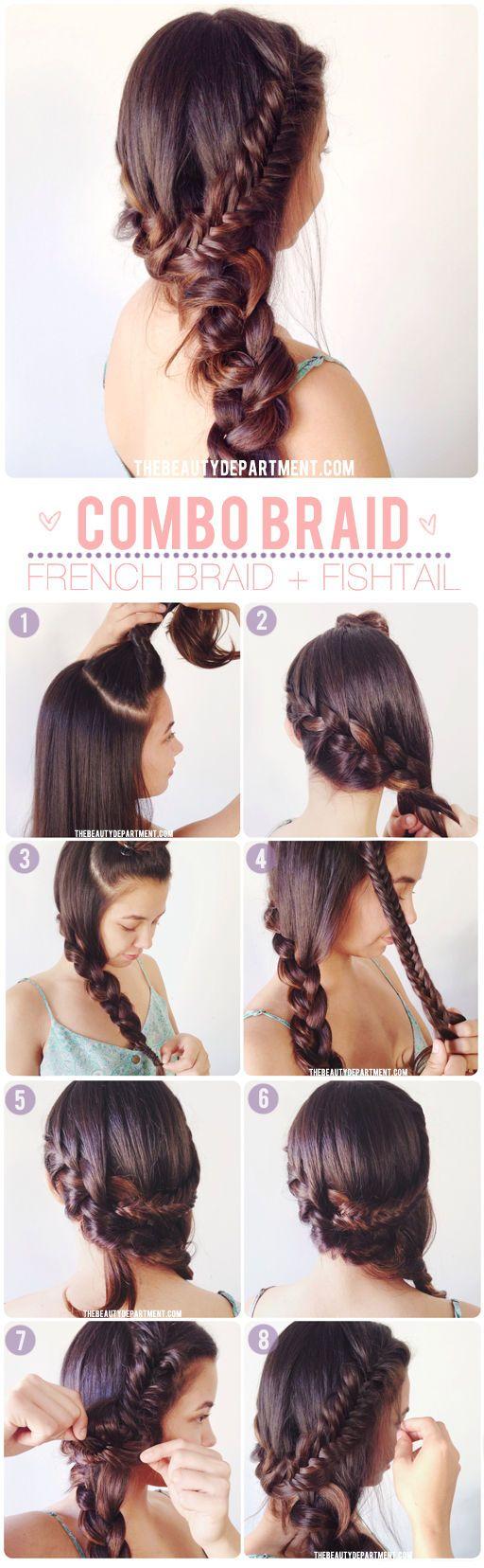 Summer Fishtail Braid Hairstyle Tutorial