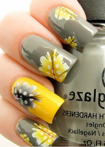 Sweet Flower Nail Art Design