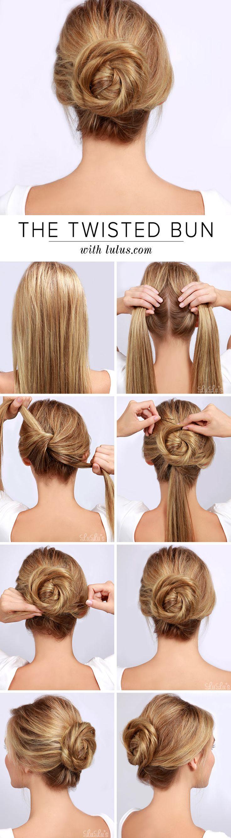 Twised Bun Hairstyle Tutorial