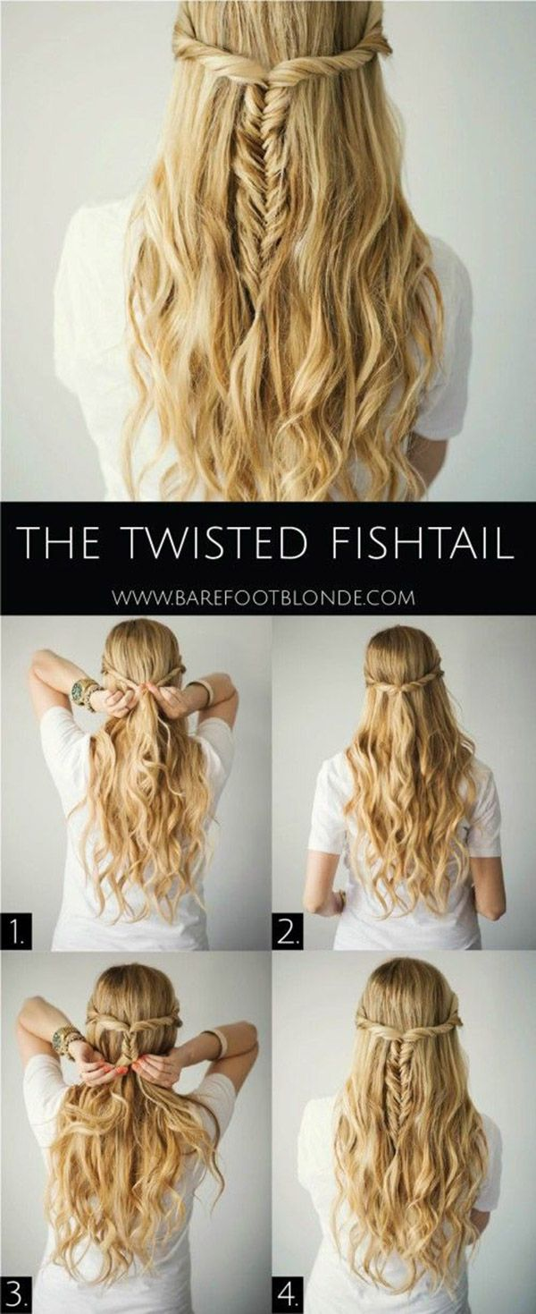 Twisted Fishtail Hairstyle Tutorial