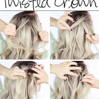 Twisted Half Up Half Down Hairstyle Tutorial