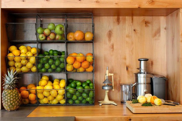 Wall Mounted Fruit Baskets