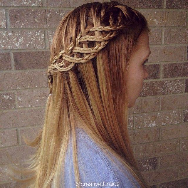 Waterfall Braids for Pretty Girls