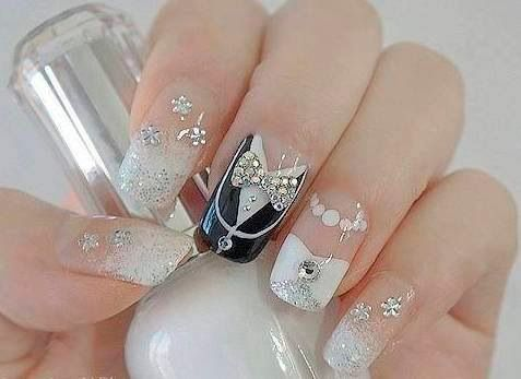 Wedding Nail Design for Long Nails
