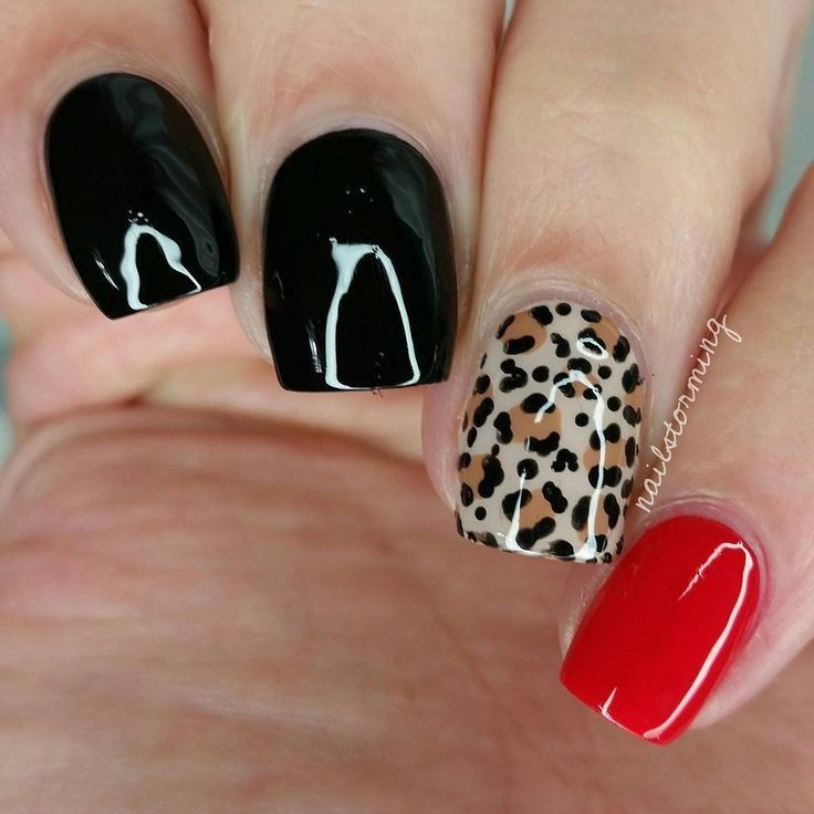 wild nail design idea - Cool Nail Design Ideas
