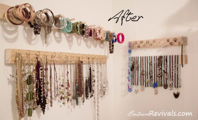 Wooden Rack Jewelry Organizers
