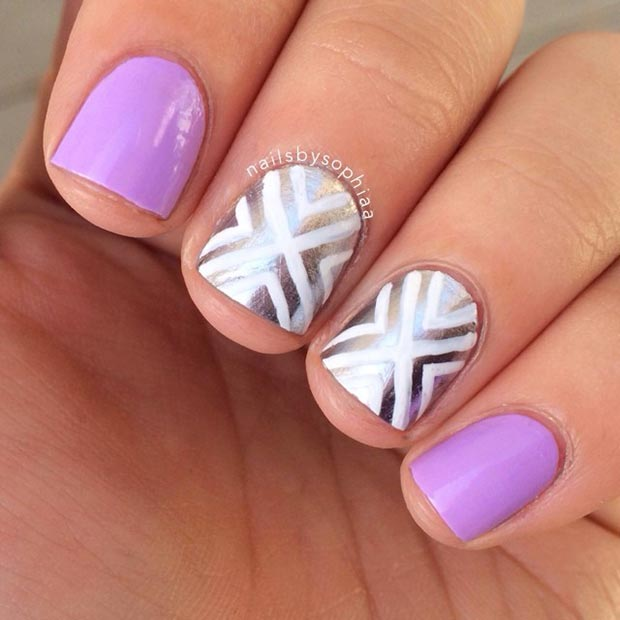 Ideas For Short Nails Easy Nail Art: 66 Nail Art Ideas For Short Nails