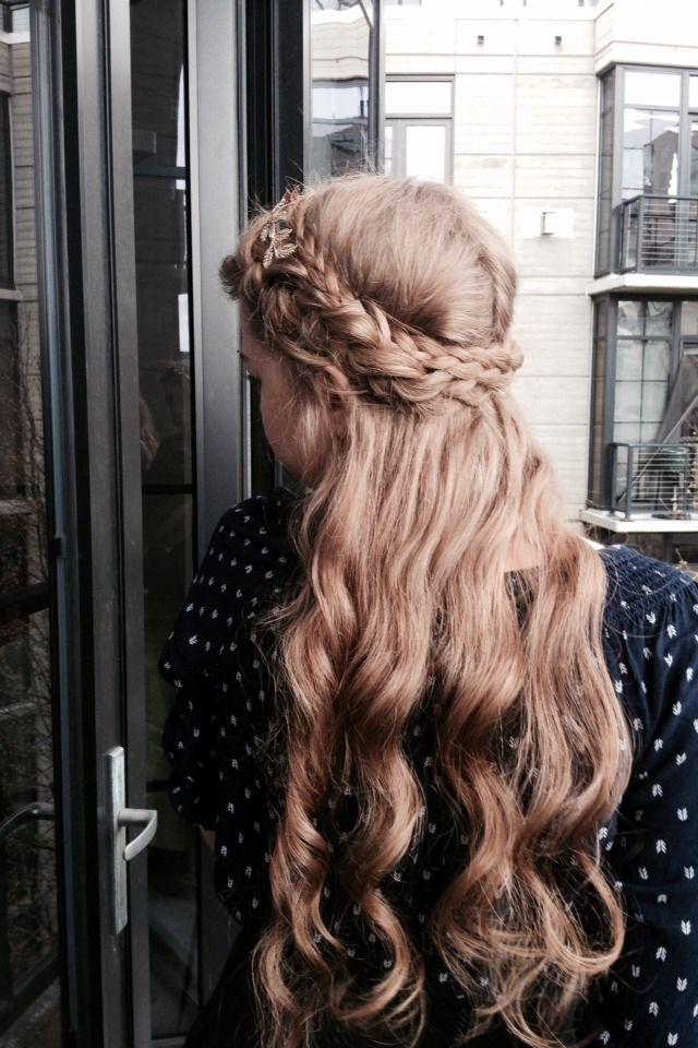 Half Up Half Down Braid Curly Hair