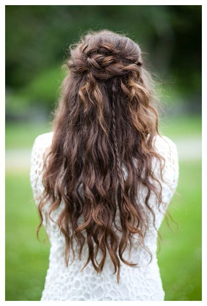 15 beautiful half up half down braid   pretty designs