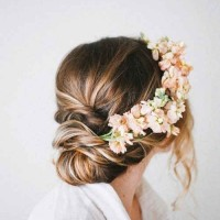 15 Hairstyles with Flower Crowns for Wedding