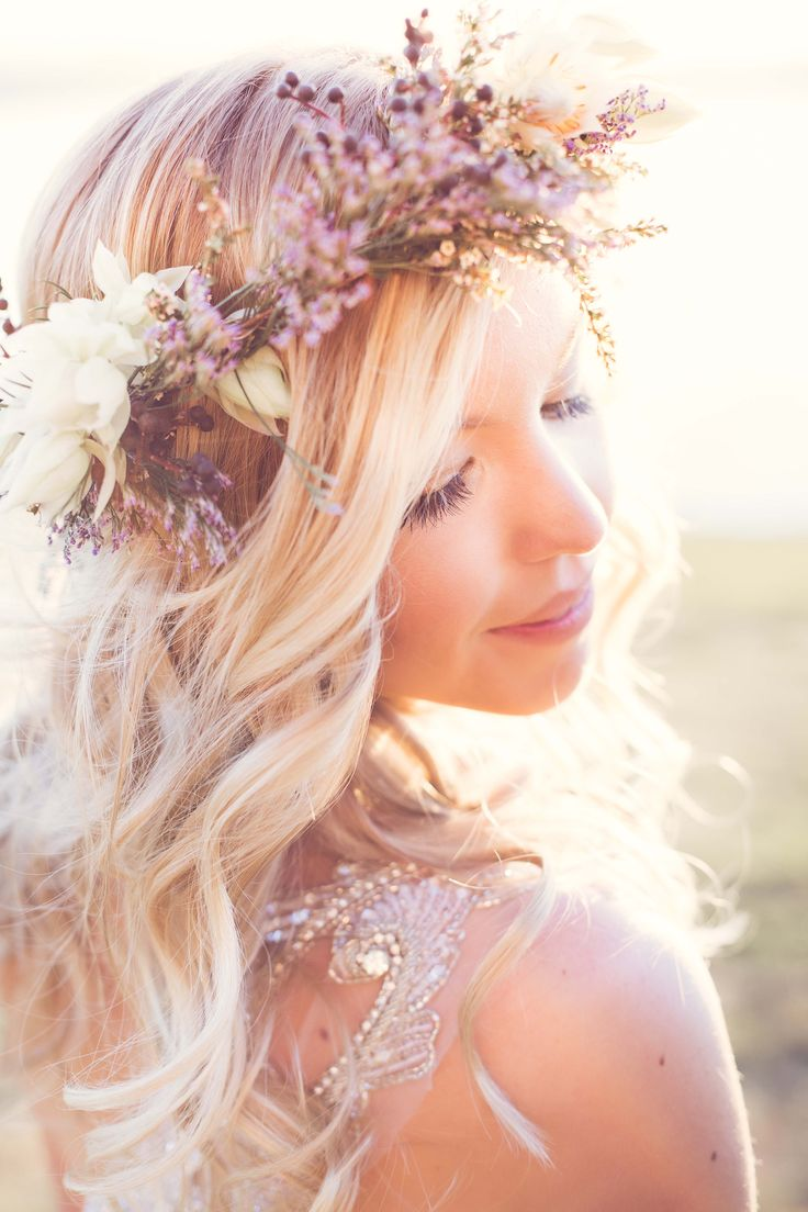 15 hairstyles with flower crowns for wedding pretty designs 15 hairstyles with flower crowns for wedding izmirmasajfo