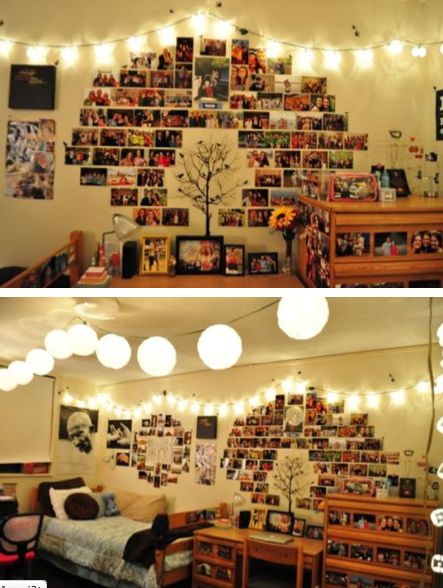 15 Ways to Make Photo Walls - Pretty Designs