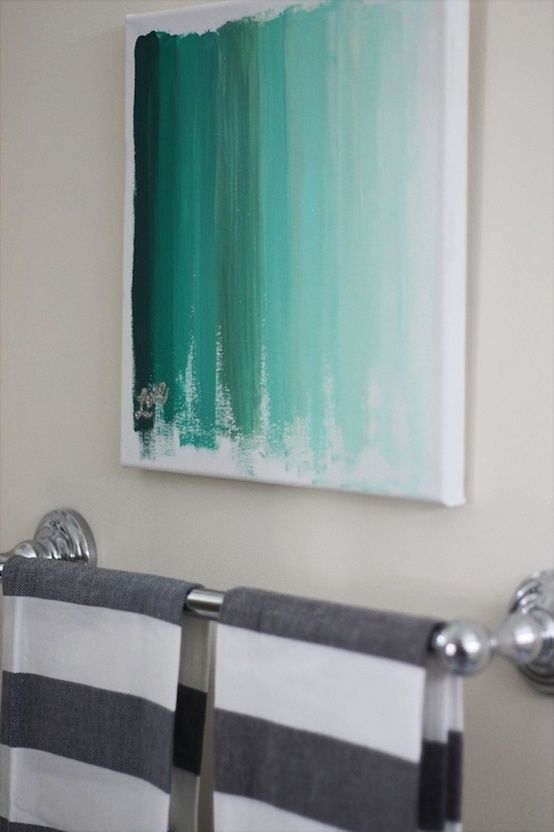 20 diy painting ideas for wall art pretty designs for Bathroom wall decor ideas diy