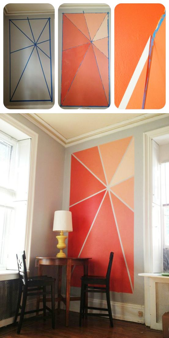 20 diy painting ideas for wall art pretty designs. Black Bedroom Furniture Sets. Home Design Ideas