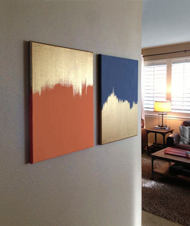 20 diy painting ideas for wall art pretty designs for Cheap artwork ideas