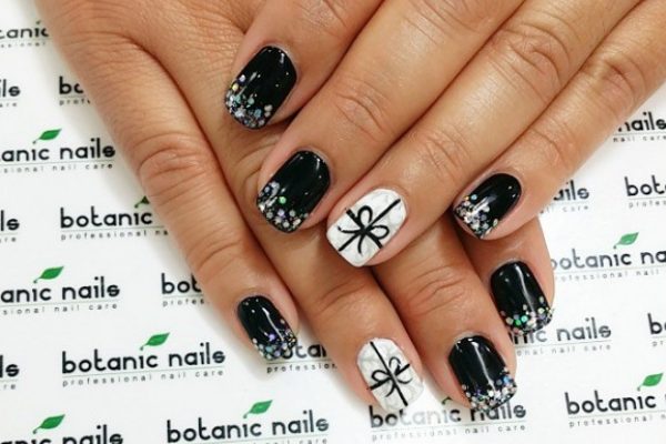 17 cute bow nail designs pretty designs black bow nails prinsesfo Images