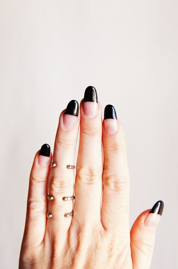 Black and Clear Nail Design