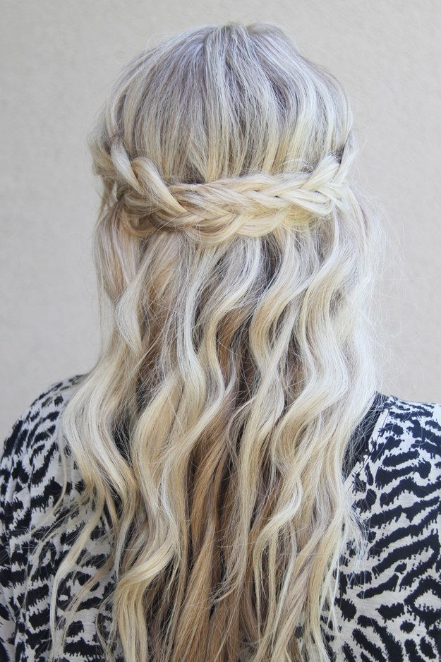 Boho-Chic Crown Braid