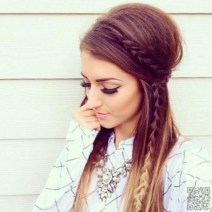 Boho-Chic Frisur für langes Haar