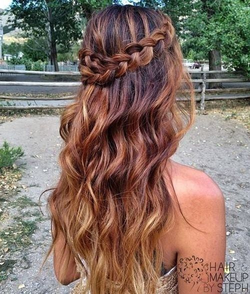 Boho-Chic Hairstyle for Ombre Hair