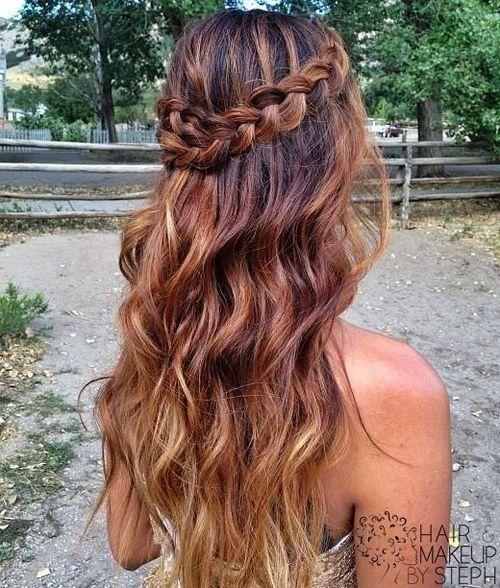 Boho-Chic Frisur für Ombre Haar