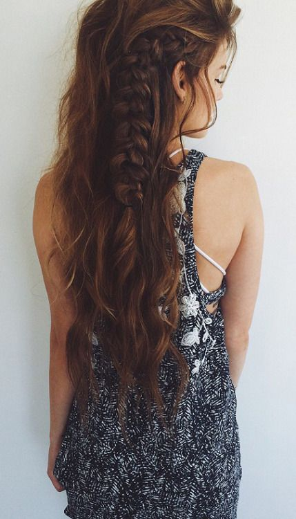 Boho-Chic Side Braid